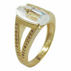 Ring, 14mm gold-plattiert Zirkonia