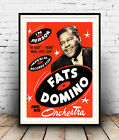 Fats Domino:  Old concert poster reproduction