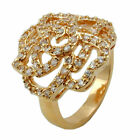 Ring, Zirkonia, gold-plattiert 3 Micron