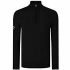 CALLAWAY GOLF RIBBED MERINO 1/4 ZIP PULLOVER - MODELL 2017 - SWEATER - NEU